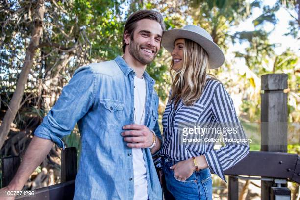 friends outdoors - love at first sight stock pictures, royalty-free photos & images