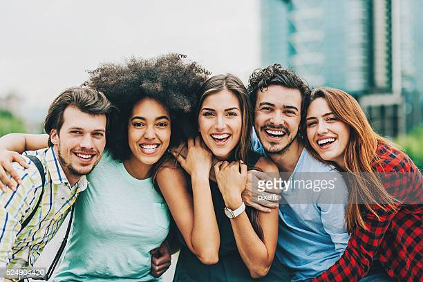 friends - five people stock pictures, royalty-free photos & images