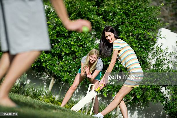 friends playing cricket - cricket player stock pictures, royalty-free photos & images