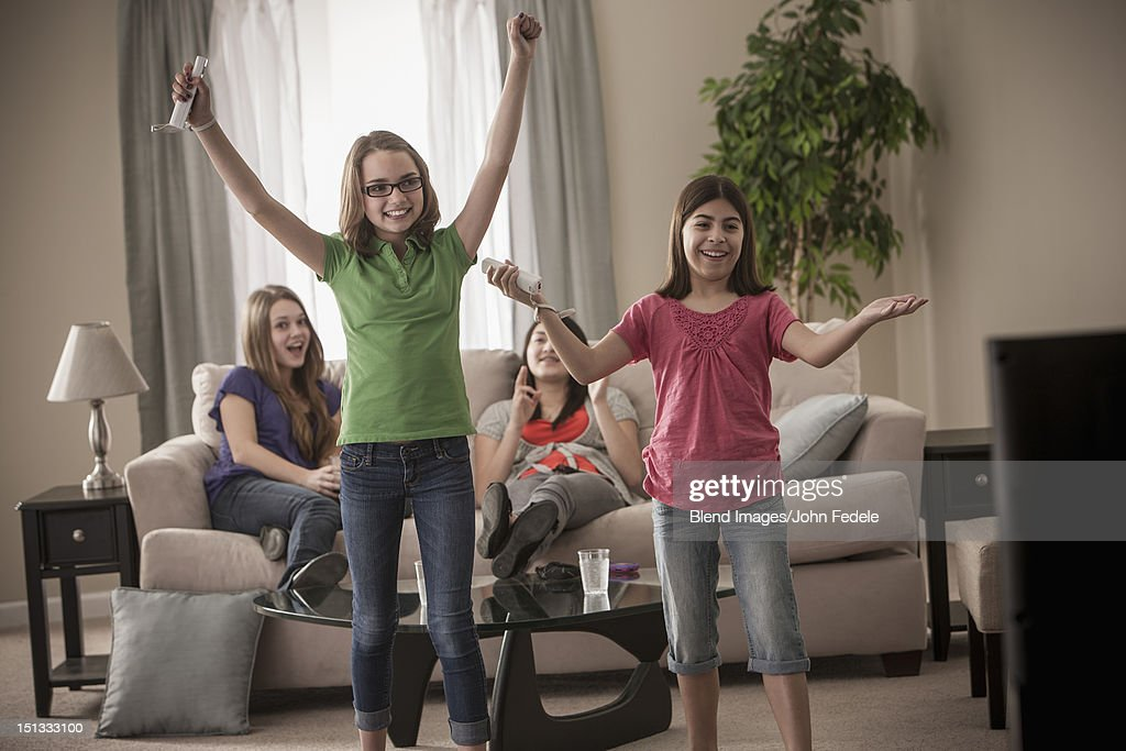 Friends Playing Video Games Together Stock Photo - Getty ...