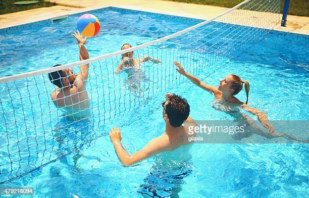 World\'s Best Swimming Pool Volleyball Stock Pictures, Photos ...