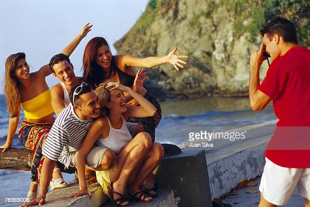 Friends posing for picture