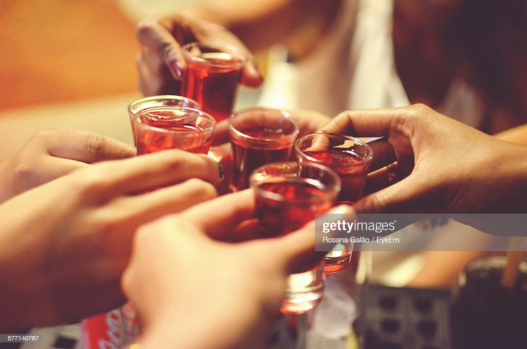 Friends Raising Toast : Stock Photo