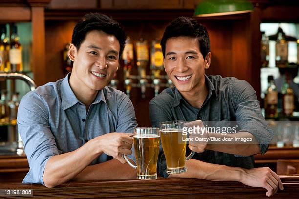 Friends Relaxing at a Bar