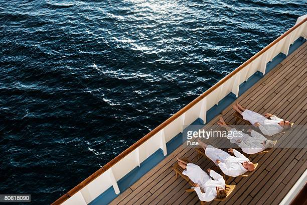 Friends Relaxing on Cruise