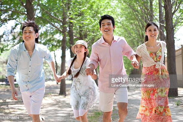 Friends Running at the Park