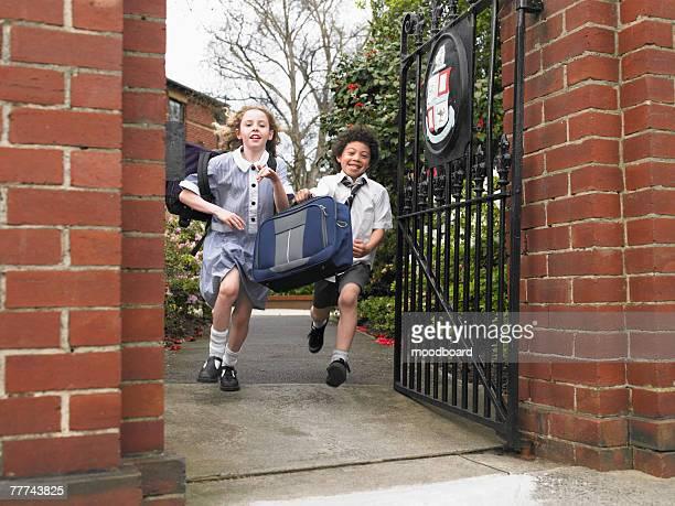 Friends Running From School