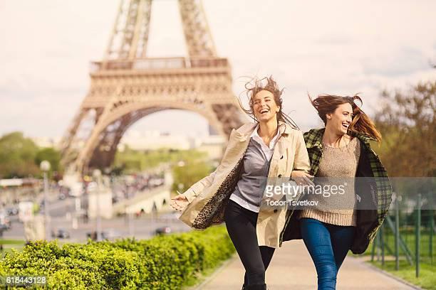 パリでご友人とご一緒にランニング