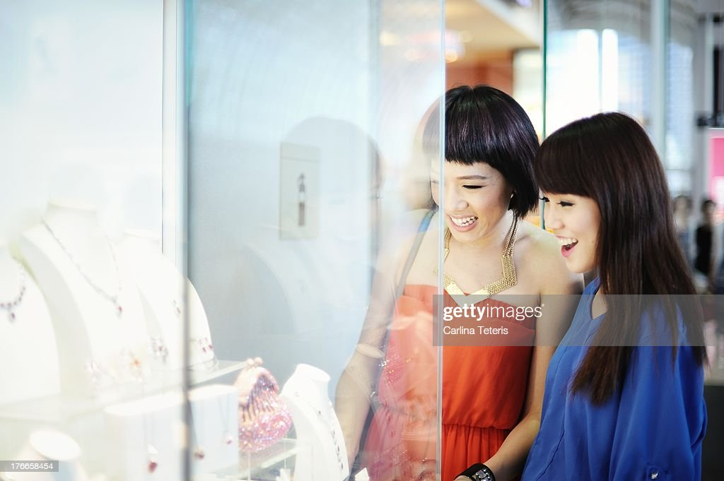 Friends shopping for jewlery : Stock Photo