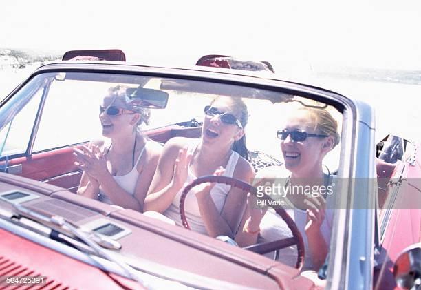 Friends Singing in a Car