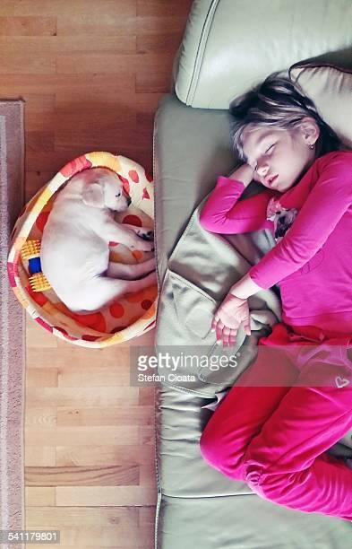 Friends sleeping