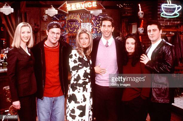 "Friends Special Episode, ""The One That Could Have Been, Part One"" From L-R: Lisa Kudrow, Matthew Perry, Jennifer Aniston, David Schwimmer, Courteney..."