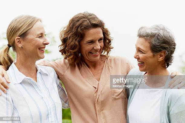 friends spending leisure time outdoors - only mature women stock pictures, royalty-free photos & images