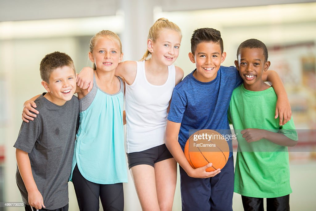 Friends Standing Together : Stock Photo