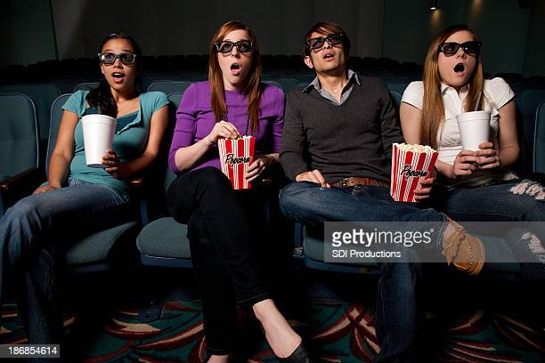Friends Surprised While Watching a Movie