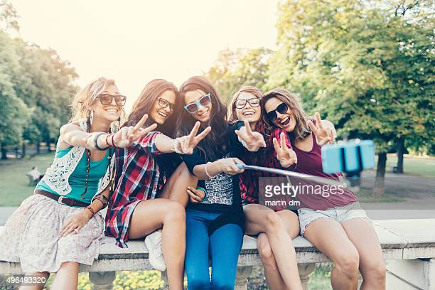 Friends taking selfie