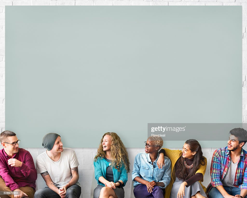 Friends Talking Communication Discussion Unity Concept Stock Photo