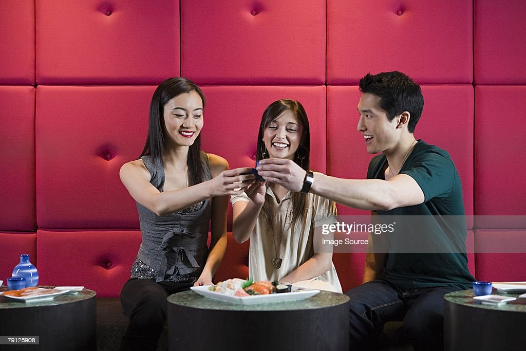 Friends toasting : Stock Photo