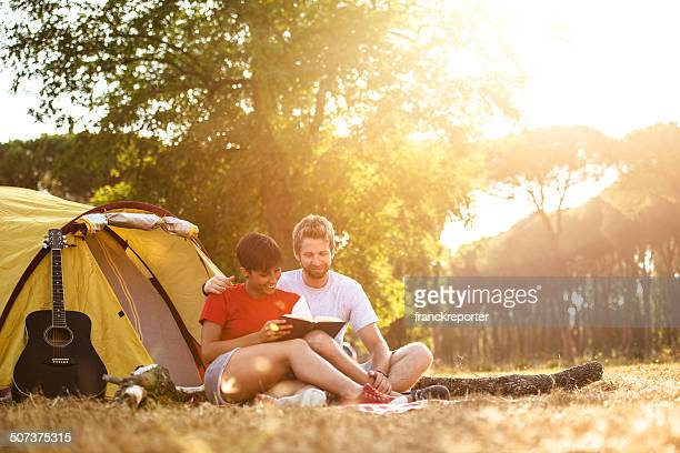 Friends  togetherness at camping