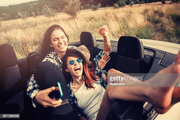 Friends travelling