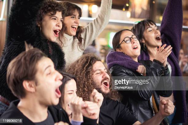 friends watching a game - eskisehir stock pictures, royalty-free photos & images
