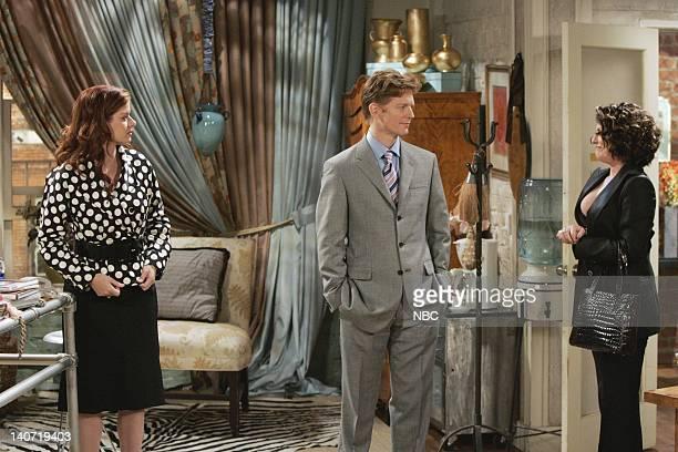 WILL GRACE 'Friends with Benefits' Episode 23 Pictured Debra Messing as Grace Adler Eric Stoltz as Tom Cassidy Megan Mullally as Karen Walker Photo...