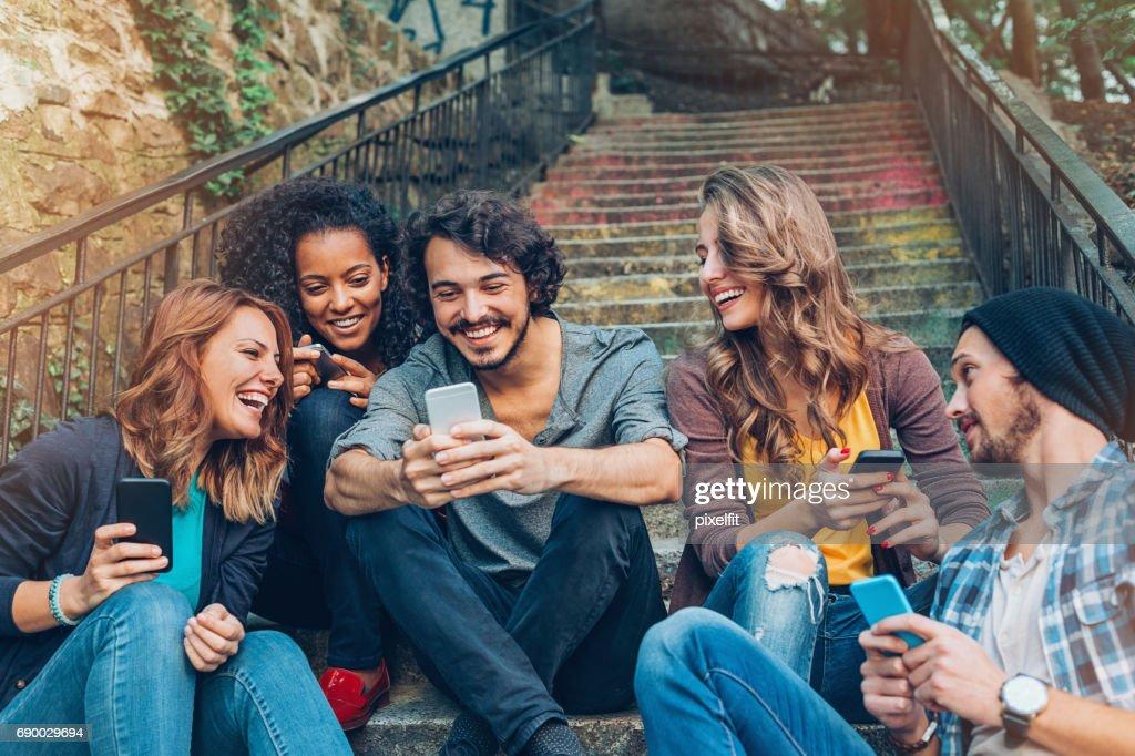 Amizade e trabalho em rede : Foto de stock