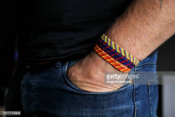 friendship bracelets - needlecraft stock pictures, royalty-free photos & images