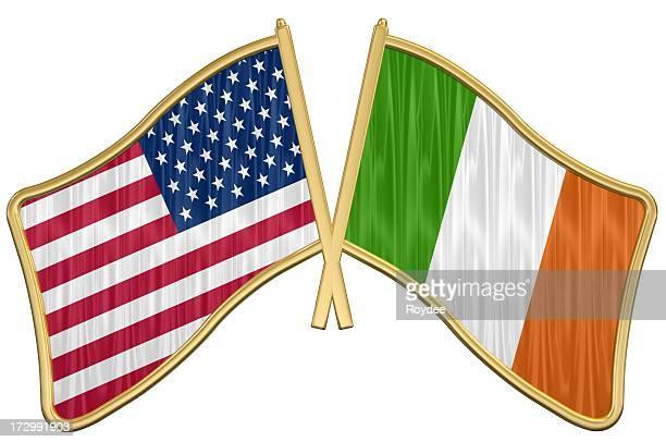 US Friendship Flag Pin - Ireland