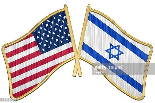 us friendship flag pin - israel - israel flag stock pictures, royalty-free photos & images