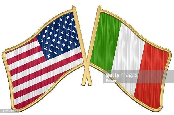 US Friendship Flag Pin - Italy