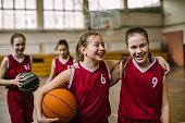 Friendship on basketball court