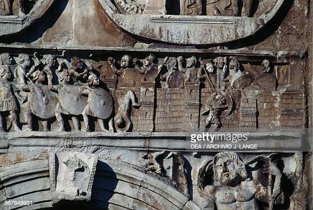 Frieze depicting the siege of Verona Arch of Constantine 315 AD Rome Italy Roman civilisation 4th century AD