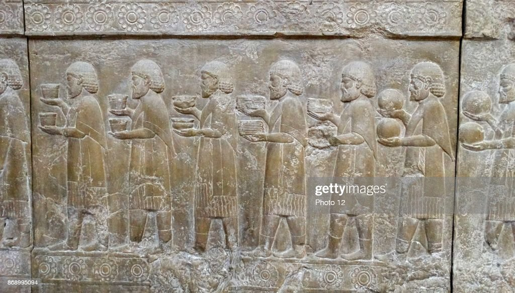 Frieze from a wall at Palace in Persepolis. : News Photo