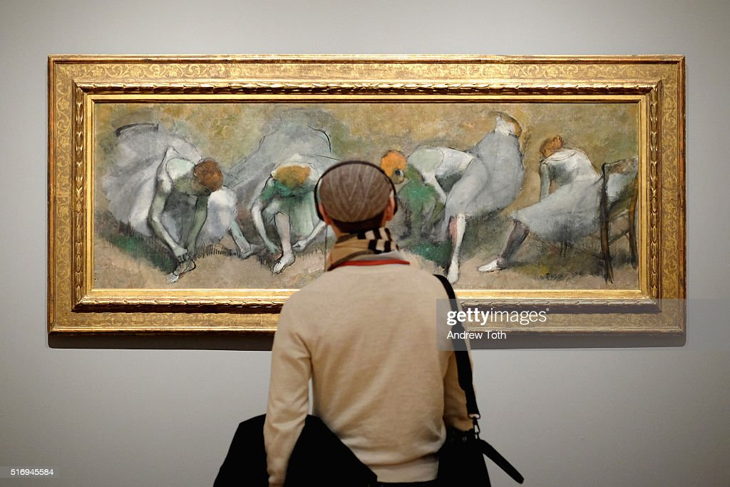 'Frieze of Dancers' by Edgar Degas is seen on display during the 'Edgar Degas: A Strange New Beauty' exhibition press preview at Museum of Modern Art on March 22, 2016 in New York City. Ê