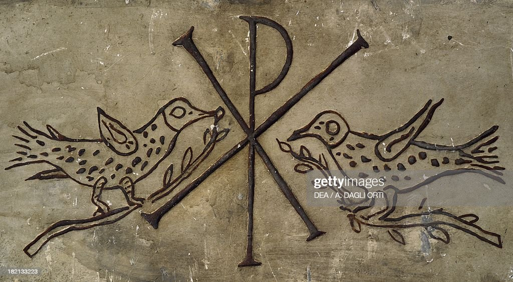 Frieze With Early Christian Symbol Of Peace Pictures Getty Images