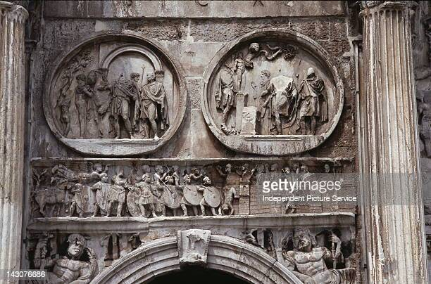 Friezes on the Arch of Constantine Rome
