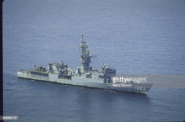 US frigate USS Cook escorting convoy of Kuwaiti tankers through the Gulf of Oman