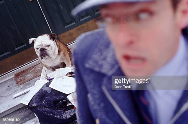 Frightened mailman