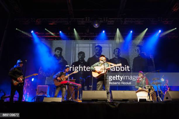 Frightened Rabbit perform on stage during Sleep In The Park a Mass Sleepout organised by Scottish social enterprise Social Bite to end homelessness...