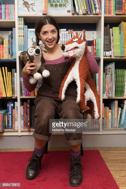 Fringe festival Performer Natasha Granger of Theatre Fideri Fidera poses with Oskar and two pelushi puppies during a photocall to celebrate the...