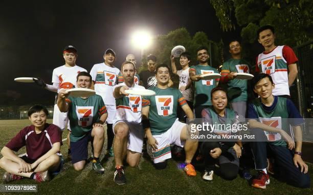 Frisbee players of the Hong Kong Ultimate Players Association Kat Ng Jason Cancel JV Gortney Joe Man Kingi Lau Neo Cheung Michael Hsu Jimmy Lai Ben...