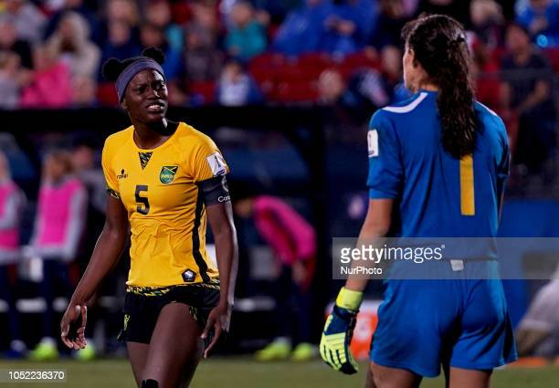 Frisco October 14 2018 Konya Plummer of Jamaica During Concacaf Women's Championship SemiFinal match between USA against Jamaica at Toyota Stadium...