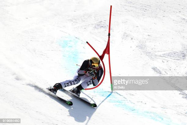 Fritz Dopfer of Germany competes during the Alpine Skiing Men's Giant Slalom on day nine of the PyeongChang 2018 Winter Olympic Games at Yongpyong...