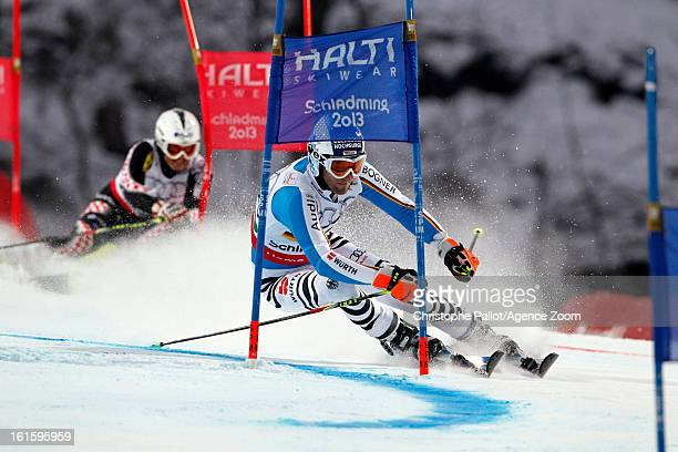 Fritz Dopfer of Germany competes during the Audi FIS Alpine Ski World Championships Nation's Team Event on February 12 2013 in Schladming Austria