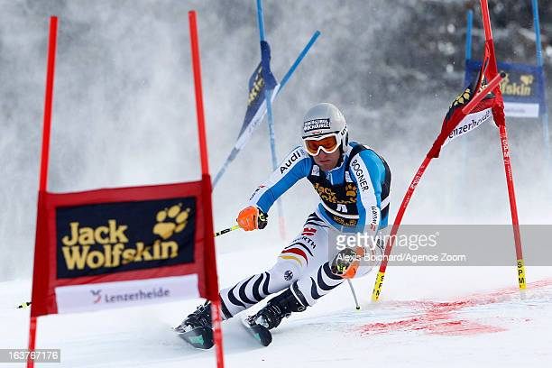 Fritz Dopfer of Germany competes during the Audi FIS Alpine Ski World Cup Nation's Team event on March 15 2013 in Lenzerheide Switzerland