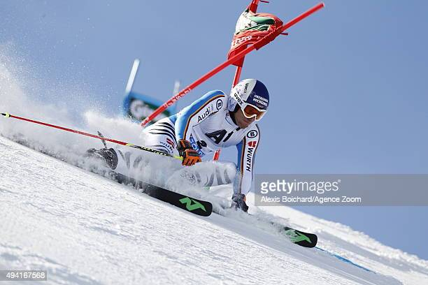 Fritz Dopfer of Germany in action during the Audi FIS Alpine Ski World Cup Men's Giant Slalom on October 25 2015 in Soelden Austria