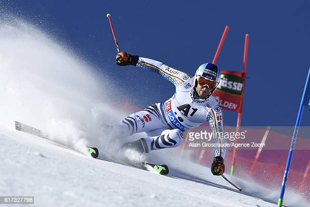Fritz Dopfer of Germany in action during the Audi FIS Alpine Ski World Cup Men's Giant Slalom on October 23 2016 in Soelden Austria
