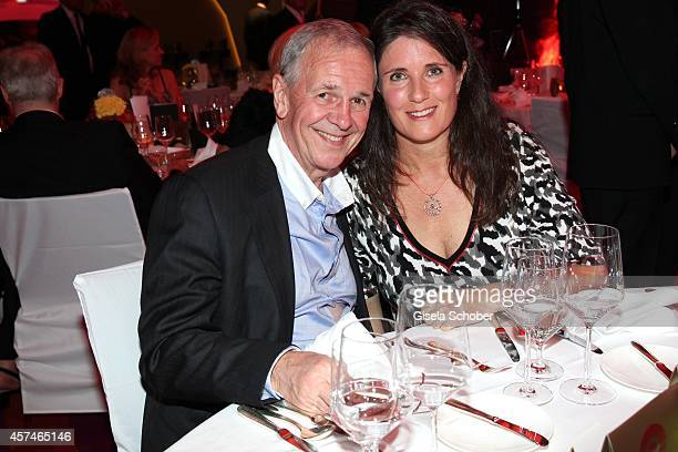 Fritz Egner and his wife Karin attend the Monti Memorial Charity Gala at Hotel Vier Jahreszeiten on October 18 2014 in Munich Germany
