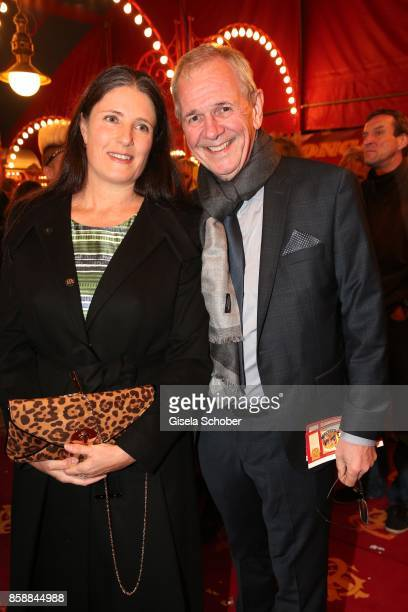 Fritz Egner and his wife Karin Egner during the premiere of the Circus Roncalli '40 Jahre Reise zum Regenbogen' on October 7, 2017 in Munich, Germany.